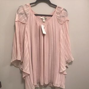 Tops - NEW with Tag Flowy Blush Blouse! Size XL